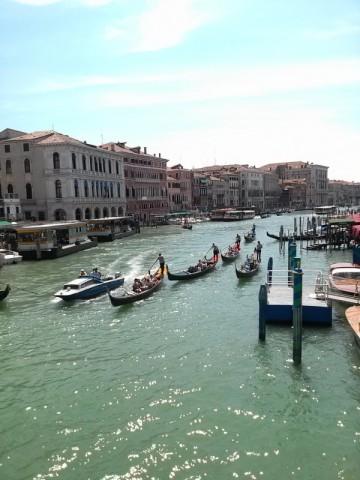 Gondolas on the main canal